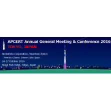 APCERT Annual General Meeting & Conference 2016